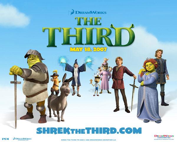 Шрек Третий, Shrek the Third, постеры