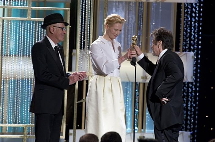 Золотой глобус: Золотой глобус 2011.   Джеффри Раш  и  Тильда Свинтон