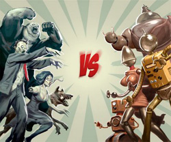Зомби против роботов