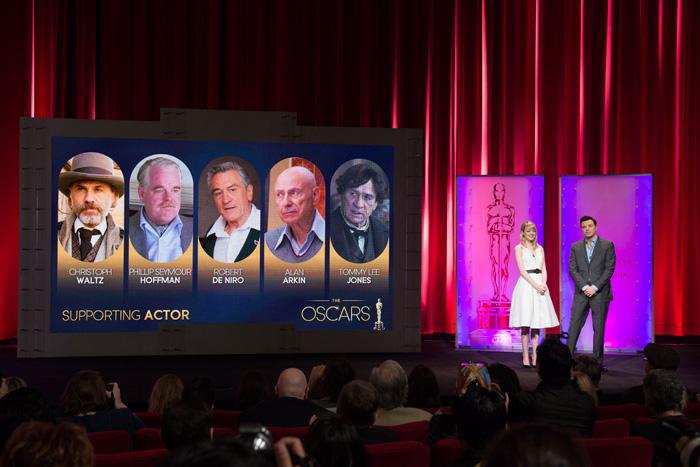Оскар 2020: Оскар-2013, как это будет.   Эмма Стоун, Сет Макфарлейн  оглашают номинантов