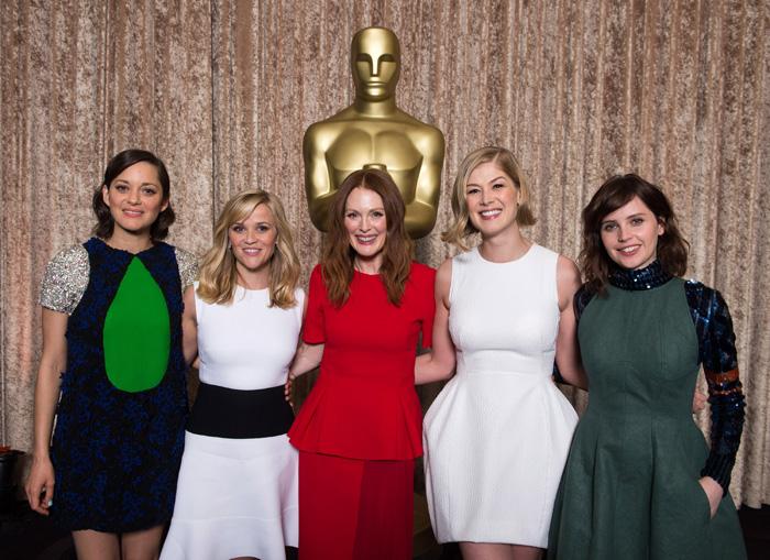 Оскар 2016: Оскар-2015, как это будет.   Марион Котийар, Риз Уизерспун, Джулианна Мур, Розамунд Пайк, Фелисити Джонс