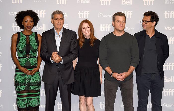 Кинофестиваль в Торонто 2017.   Джордж Клуни, Джулианна Мур, Мэтт Дэймон