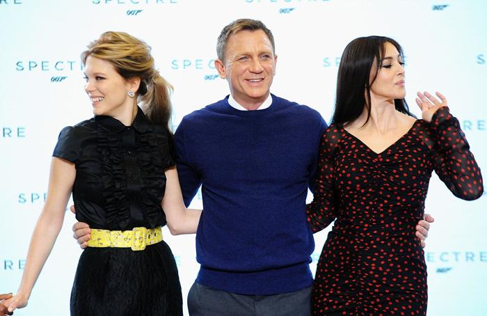 Бонд, Джеймс Бонд: 007: СПЕКТР.  На фото:   Дэниел Крейг  ,   Моника Беллуччи