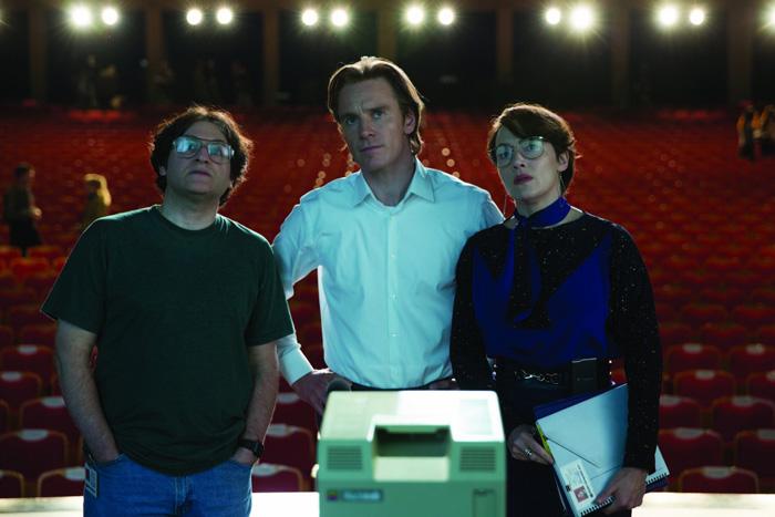 Стив Джобс.  На фото:   Кейт Уинслет  ,   Майкл Фассбендер  ,   Майкл Штульбарг